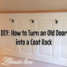 Door Hanging Coat Rack DIY Old Door Turned Coat Rack Lehman Lane 26