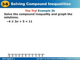 compound inequality and