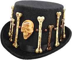 Top Hat with Voodoo Skulls and Bones (Black): Clothing - Amazon.com