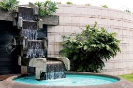Small Picture Lawn Garden Luxury Modern Concrete Backyard Waterfall Design