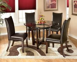 5 piece round dining set signature design by 5 piece round dining table set with brown chairs ia arizona 5 piece eucalyptus round dining set 5 piece