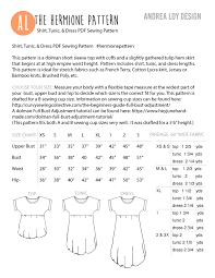 Brindille And Twig Size Chart Sewing With Knits Archives Andrealoydesign Com