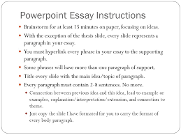 powerpoint essay instructions brainstorm for at least minutes  1 powerpoint essay instructions