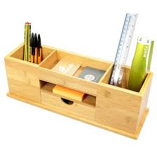 tidy office. Wooden Desk Organiser 5 Compartments Tidy Drawer Home Office Storage Box Bamboo