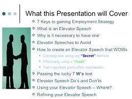 What Is A Elevator Speech Creating An Elevator Speech That Wows