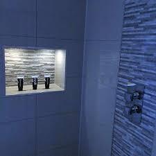 shower niche lighting niche shelf led ideas for shower lighting