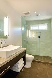 glass subway tile shower glass subway tile shower bathroom contemporary with glass subway green glass subway