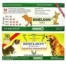 Biheldon Dog And Cat Puppy Wormer 30 Tablets Broad Spectrum