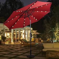 10ft patio solar umbrella led patio