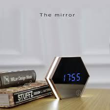 Good Creative Multi Function Mirror Clock Stylish Minimalist Luminous Bedroom  Clock Night Light Touch Alarm Clocks In Desk U0026 Table Clocks From Home U0026  Garden On ...