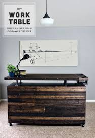 diy ikea hack dresser. DIY Work Table - IKEA MALM Dresser Hack Diy Ikea C