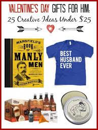 valentines gift ideas for him 25 creative ideas under 25