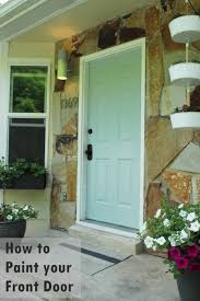 diy paint front door turquoise shade