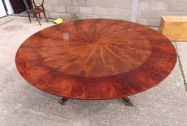 large round antique table regency style mahogany 7ft diameter jupe extending round table