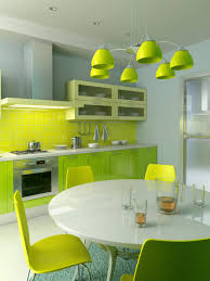 kitchen design colors ideas. Smart And Fabulous Colorful Kitchen Ideas With Green Cabinet Shade Chandelier Chair Round Design Colors B