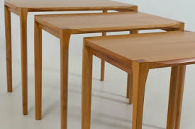 mid century modern nesting tables by rex raab for wilhelm renz