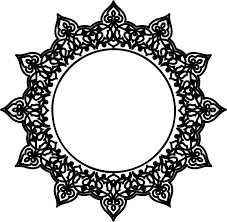 drawn frame filigree source clipart decorative ornamental round frame