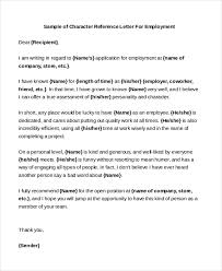 Free 6 Sample Character Reference Letters In Pdf Doc