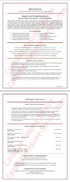 Restaurant Hospitality Manager Resume Example Sample With Writing