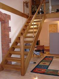 new wooden staircase