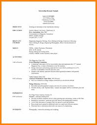 Objective Of Resume For Internship Objective For Resume Internship Sevte 29