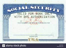 social security card ssn blank original ...