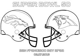 Super Bowl 50 Carolina Panthers Vs Denver Broncos Coloring Page