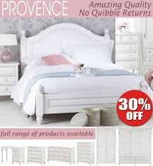 provence shabby chic bedroom furniture bedside tables chest of drawers bed