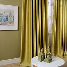 Yellow Curtains For Living Room Living Room Velvet Curtains With Yellow Curtain And Brown Wooden