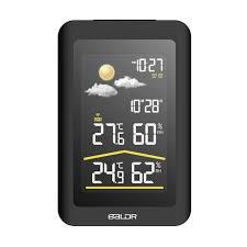 baldr b0320wst2h2pr v5 wireless indoor outdoor weather station clock time display table desktop wall led