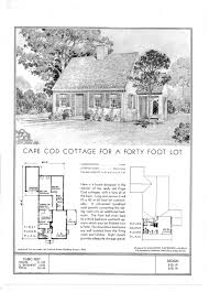 england standard floor plans for a cape cod cottage ca 1940 cape