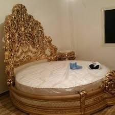 Wood Carving Round Bed