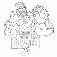 Leuk Voor Kids Thanos Pertaining To Fornite Battle Royale Intended