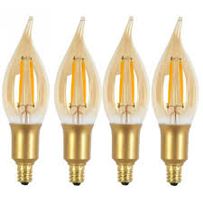 photo 4 of 11 led chandelier light bulbs 4 globe electric 40w equivalent soft white 2200k vintage