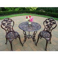 patio set bristo table chairs antique bronze outdoor furniture wrought iron antique rod iron patio