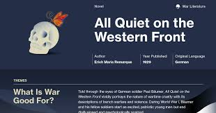All Quiet On The Western Front Symbols Course Hero Fascinating All Quiet On The Western Front Quotes