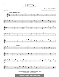 beauty and the beast sheet music gaston from beauty and the beast by a menken sheet music on