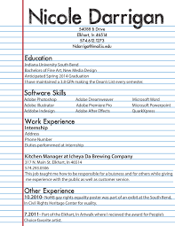 High School Student Job Resume Template Via First M