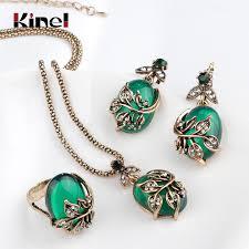 korean pearl diamond necklace whole topaz earring necklace set