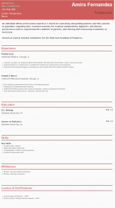 Resume For Pediatrician Hipcv Create Stylish Professional Resume In Minutes For