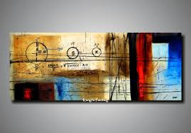 100 hand painted unstretched 4 panels abstract painting oil on inside canvas wall art decorating