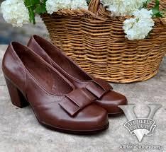 cordovan brown ww2 service dress pumps womens vintage repro shoes