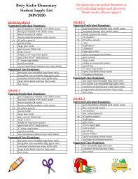 School Supplies List Template Supply List Lakeland Joint School District 272