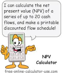 Online Cash Flow Statement Calculator Npv Calculator Calculate And Learn About Discounted Cash Flows