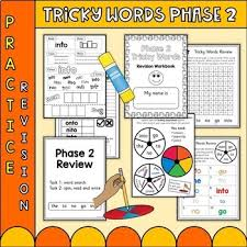Each of these 36 page activity books for children. Phonics Phase 2 Tricky Words Practice Worksheets Uk Teaching Resources