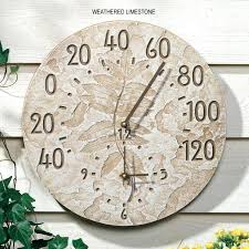 36 outdoor clock fossil sumac outdoor clock thermometer within and for with idea 36 outdoor clock