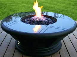 portable propane fire pit costco table set outdoor round