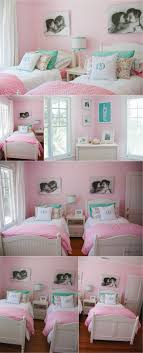 Such a cute shared girls room. Maybe if my sister and I had a room