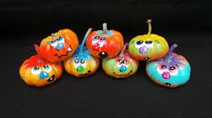Small Pumpkin Painting Painted Pumpkins