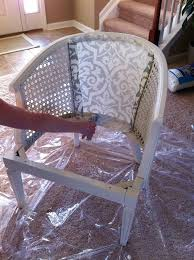 restyling an old cane back chair looks great